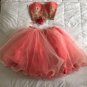 Two piece prom dress/ two piece set